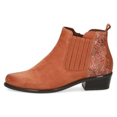 Polly tan combo short boots by Caprice