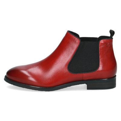 Elle red chelsea boots by Caprice