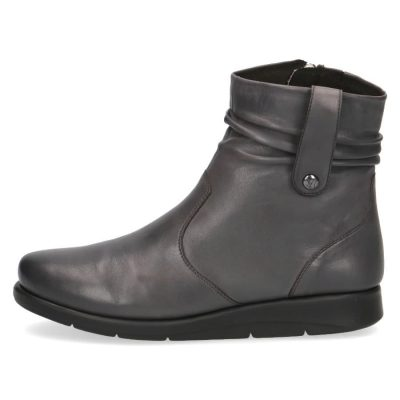 Grey nappa short boots by Caprice