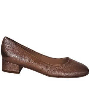 Sergio shoes crack metallic copper