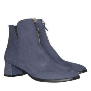 Sergio short boots  blue textured (carved) suede 4201
